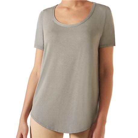 """Camiseta sra. m/corta lisa vuelo """"cta. loo spa modal"""" - janira"""