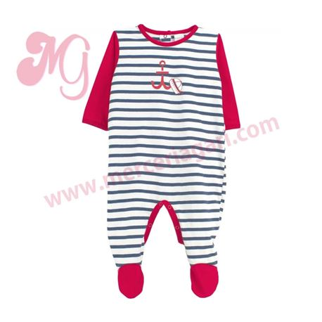 "Pelele bebe m/l 100% alg. marinero ""5596"" - rapife"