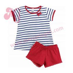 """Pijama niña m/c p/c 100% alg. marinero """"5605"""" - rapife"""