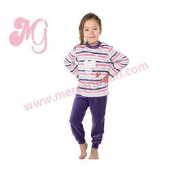 """Pijama niña m/l p/l puño tundosado rayas """"182602"""" - muslher"""