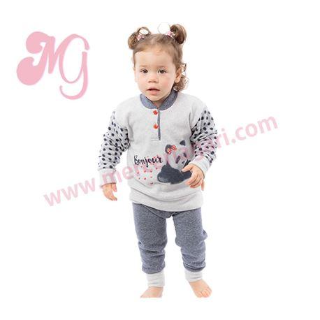 "Pijama niña m/l p/l puño polar oso panda ""182608"" - muslher"