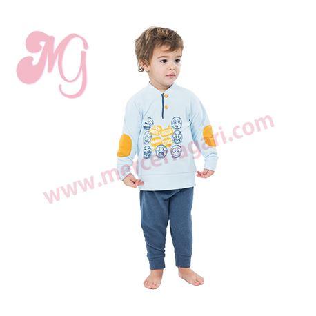 """Pijama niño m/l p/l puño polar smiles """"182620"""" - muslher"""
