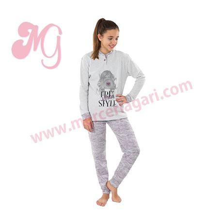 """Pijama niña m/l p/l polar fotografa """"184604"""" - muslher"""