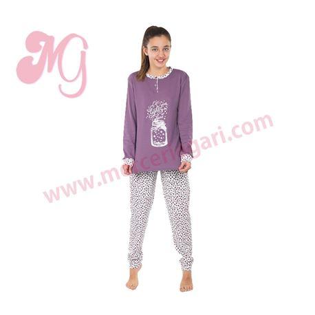 """Pijama niña m/l p/l 100% alg. frasco """"184608"""" - muslher"""