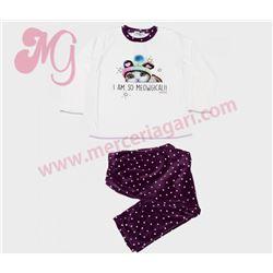 "Pijama niña m/l p/l gato tundosado ""681111"" - massana"