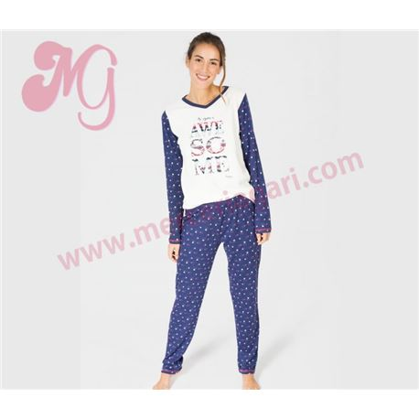 "Pijama sra. m/l p/l awesome tundosado ""681203"" - massana"