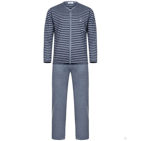 """Pijama cro. m/l p/l abierto rayas """"681313"""" - massana"""