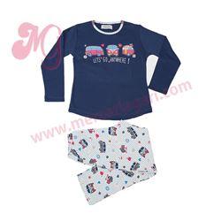 """Pijama niña m/l p/l 100% alg. furgoneta """"681110"""" - massana"""