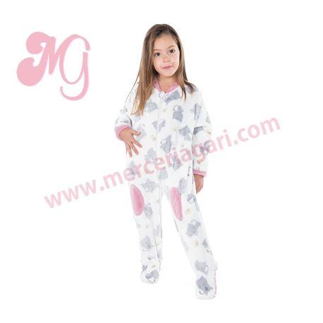 "Pijama manta niña gatos ""181905"" - muslher"