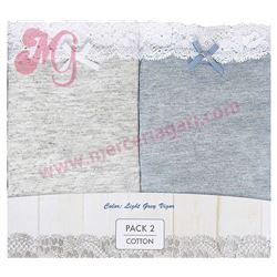 "Pack-2 bragas  ""mini mellow coq. vigor lace"" 81% visc.- janira"
