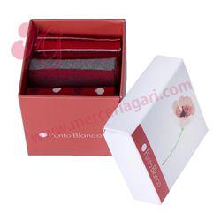 "Pack-3 pares calcetines + caja regalo ""75015-10"" - punto blanco"