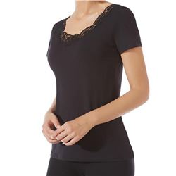 "Camiseta sra. m/c guipour + lisa ""m/c ghirlanda modal"" - janira"