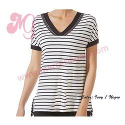 "Camiseta sra. m/corta ""cta m/c loo marina"" - janira"