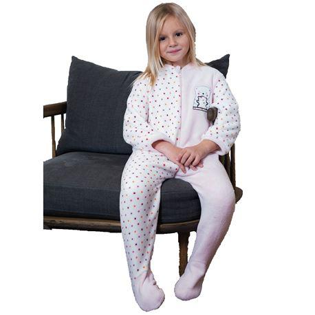 """Pijama manta niña topitos + osos """"201910"""" - muslher"""