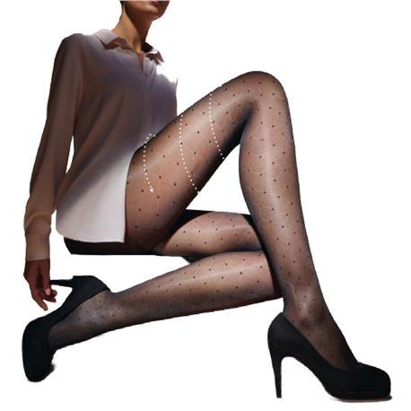 """Panty sra. fino fantasia + compresión """"dotty-actif"""" - janira"""