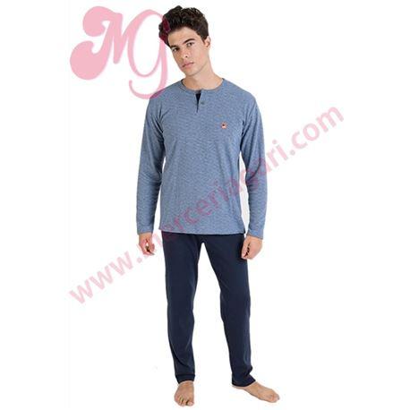 "Pijama cro. m/l 50%alg. topitos ""701304"" - massana"