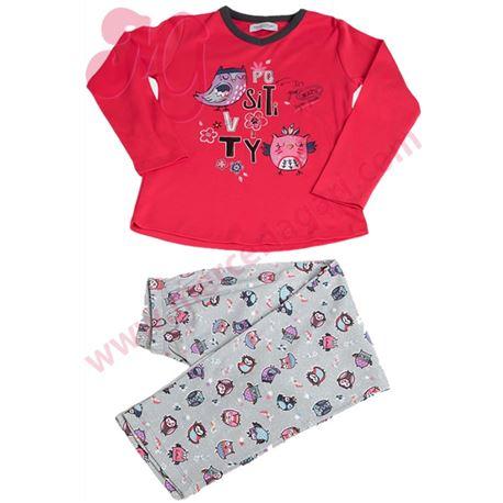"Pijama niña m/l 100%alg. buhos ""701115"" - massana"
