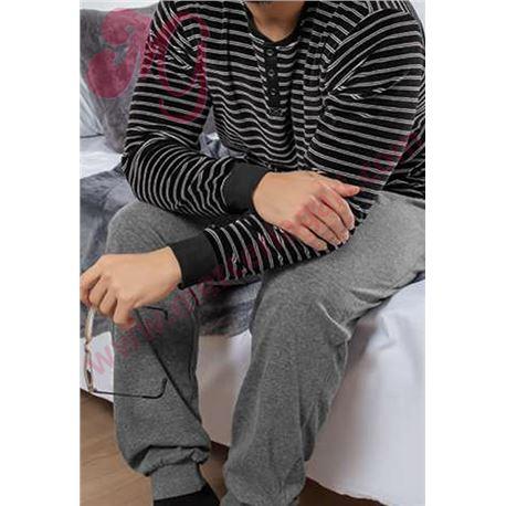 """Pijama cro. puño tundosado rayas """"97184"""" - kler"""
