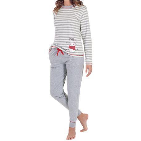 "Pijama sra. m/l 100% alg. puño rayas ""97212"" - marie claire"