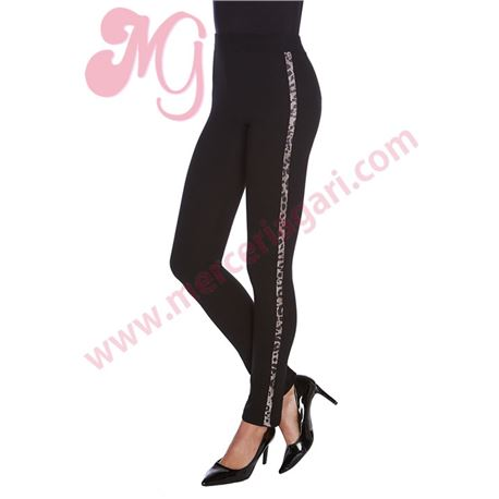 "Legging sra. lateral leopardo ""leopard strip"" - janira"