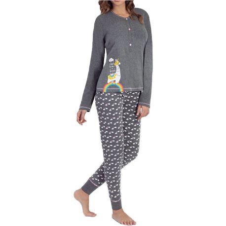 """Pijama sra. m/l 100%alg. puño unicornio """"97211"""" - marie claire"""