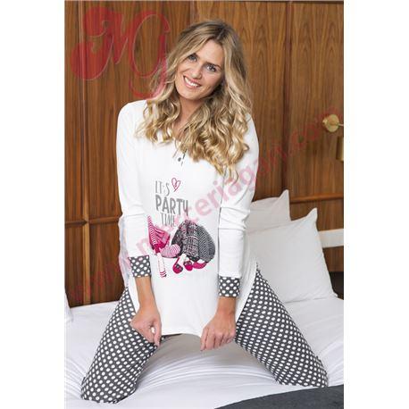 """Pijama sra. m/l p/l 100%alg. puño """"206616"""" - muslher"""