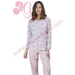 "Pijama sra. m/l abierto 100%alg. flores ""20268"" - avet"