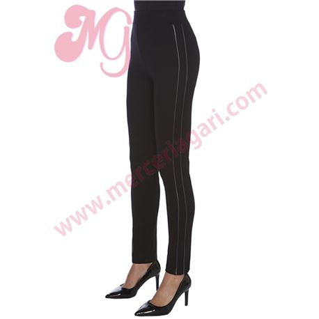 "Legging sra. efecto piel ""leather strip"" - janira"