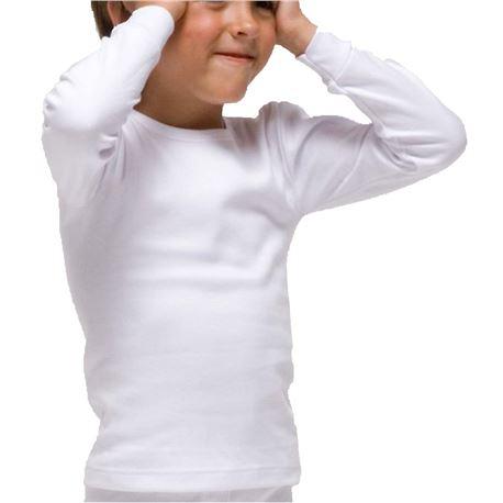 "Camiseta m/l infantil térmica 100% alg. ""390"" - rapife"