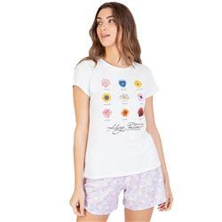 "Pijama sra. m/c p/c 100% alg. flores ""211239"" - massana"