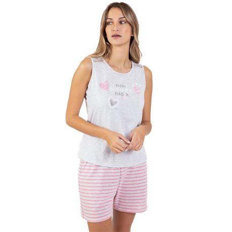 """Pijama sra. s/manga 50% alg. fantasía """"211229"""" - massana"""