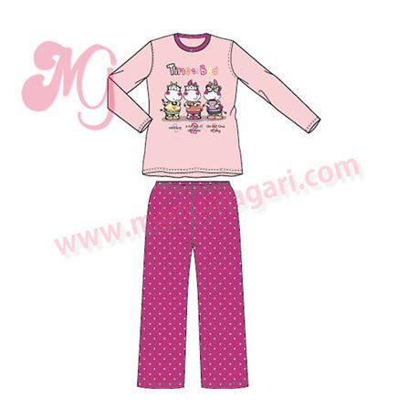 """Pijama niña m/l p/l 100% alg. """"5063"""" - tobogan"""