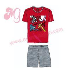 """Pijama niño m/c 100%alg. animales """"3131"""" - kukuxumusu"""