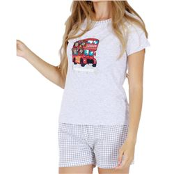 "Pijama sra. m/c p/c 98% alg. beatles bus ""4272"" - kukuxumusu"