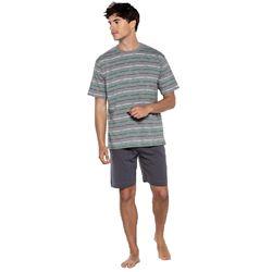 """Pijama cro. m/c p/c 100% alg. rayas """"34341-60 - punto blanco"""