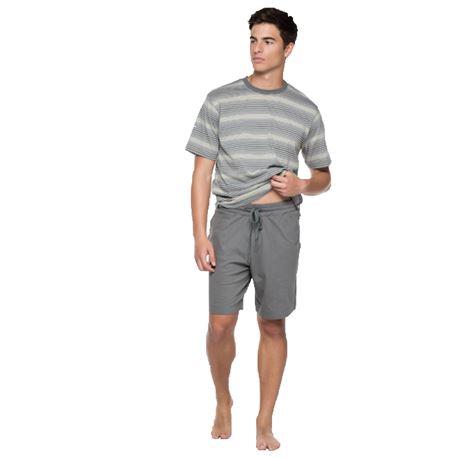"""Pijama cro. m/c p/c 100% alg. rayas """"34235-60"""" - punto blanco"""
