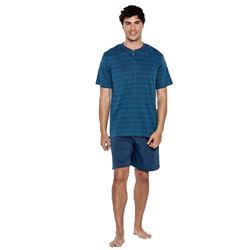 """Pijama cro. m/c p/c 100% alg. tapeta """"34338-60"""" - punto blanco"""
