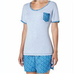 "Pijama sra. m/c p/c estampado ""pij. m/c bluebell"" - janira"