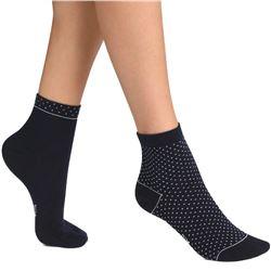 "Pack-2 calcetines sra. cortos topitos ""b3b"" - dim"