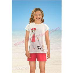 """Pijama niña m/c p/c 100% alg. """"141104"""" - massana"""