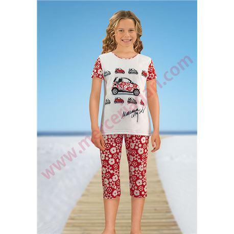 "Pijama niña m/c p/pirata 100% alg. ""141115"" - massana"