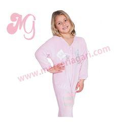 "Pijama manta niña rosa + oso ""141904"" - muslher"