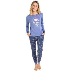 """Pijama sra. m/l p/l puño gatos 100% algodón """"711201"""" - massana"""
