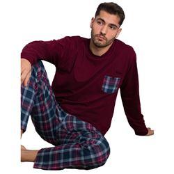 "Pijama cro. m/l 100% alg. cuadros ""97278"" - kler"