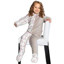 "Pijama manta unisex caras osos ""211906"" - muslher"