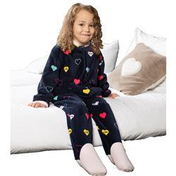 "Pijama manta unisex corazones ""211911"" - muslher"