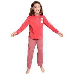 """Pijama niña m/l 95% alg. rayas """"214619"""" - muslher"""